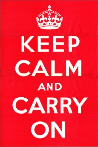 Digital scan of original KEEP CALM AND CARRY ON poster